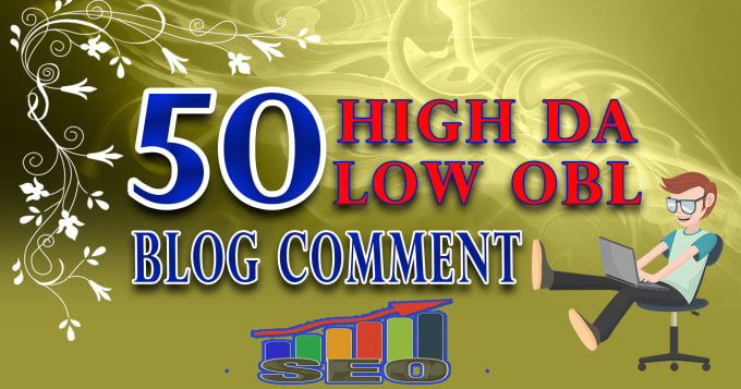 I will create 50 Dofollow Blog Comment Backlinks Low OBL