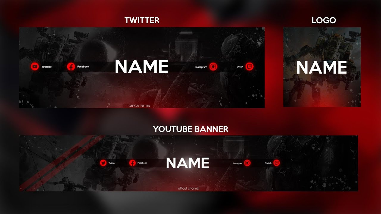 Youtube banner design at a decent price within 24h