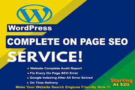 I will do complete onpage SEO for wordpress website with yoast seo full setup