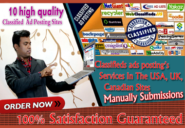 I will creat 10 Classified Ad Posting for google top ranking.