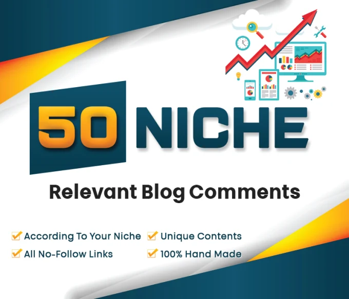 I will do 50 niche relevant high quality comments backlinks