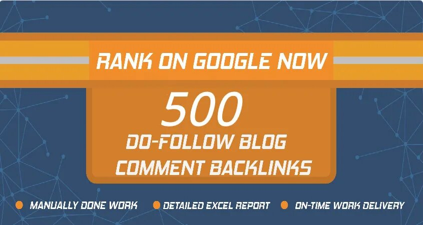I will create 500 dofollow quality blog comment backlinks