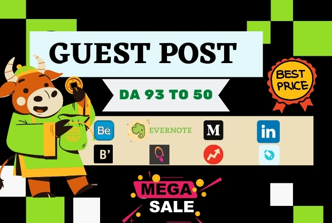 Get 10 High quality Guest Blog Posts,  write and publish on high DA-90+ sites