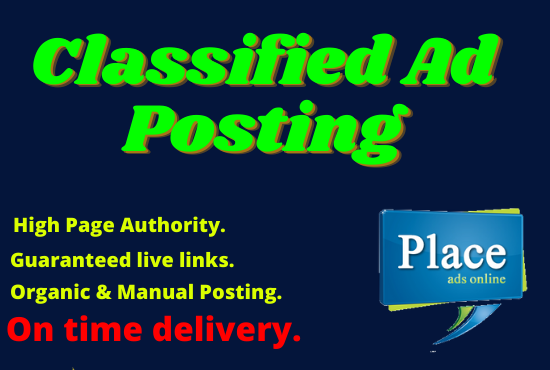 Manually Post Your ad 300 AD Posting Websites