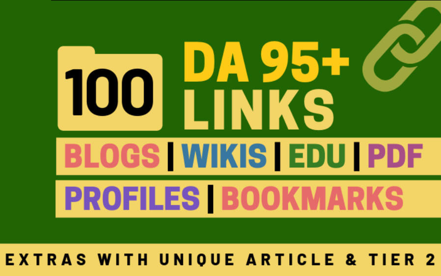 100+ High DA 95+ HQ Links to Ranking Your Website and boost your web authority