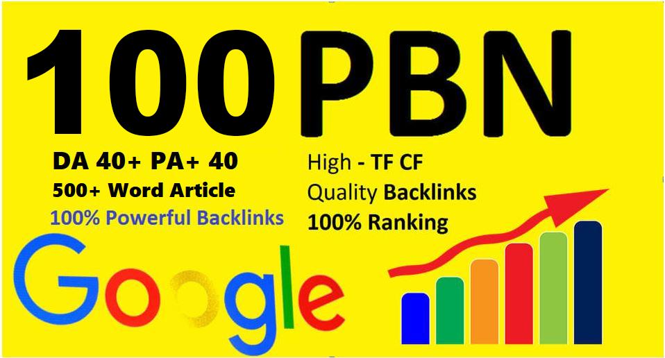 Unique 100 Sites Da 40 Pa 35 PR 5 Web 2.0 Pbn