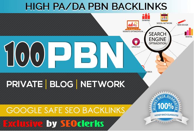 Unique 100 Sites Da 50+ Pa 40+ PR 5+ Web 2.0 Pbn