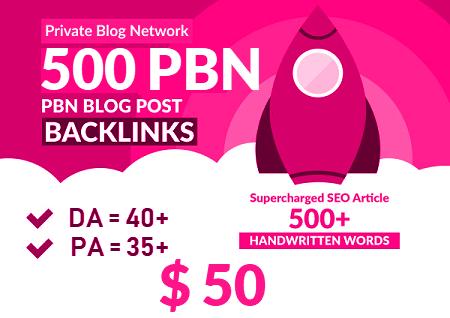 500 Premium Homepage Web 2.0 PBN Service Manual Creating DA 40+ PA 40+