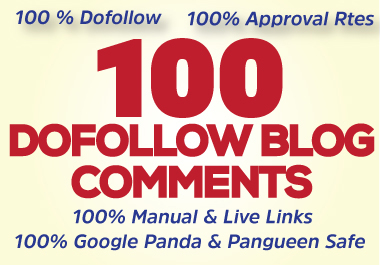 I will create manually 100 high quality dofollow blog comments seo backlinks