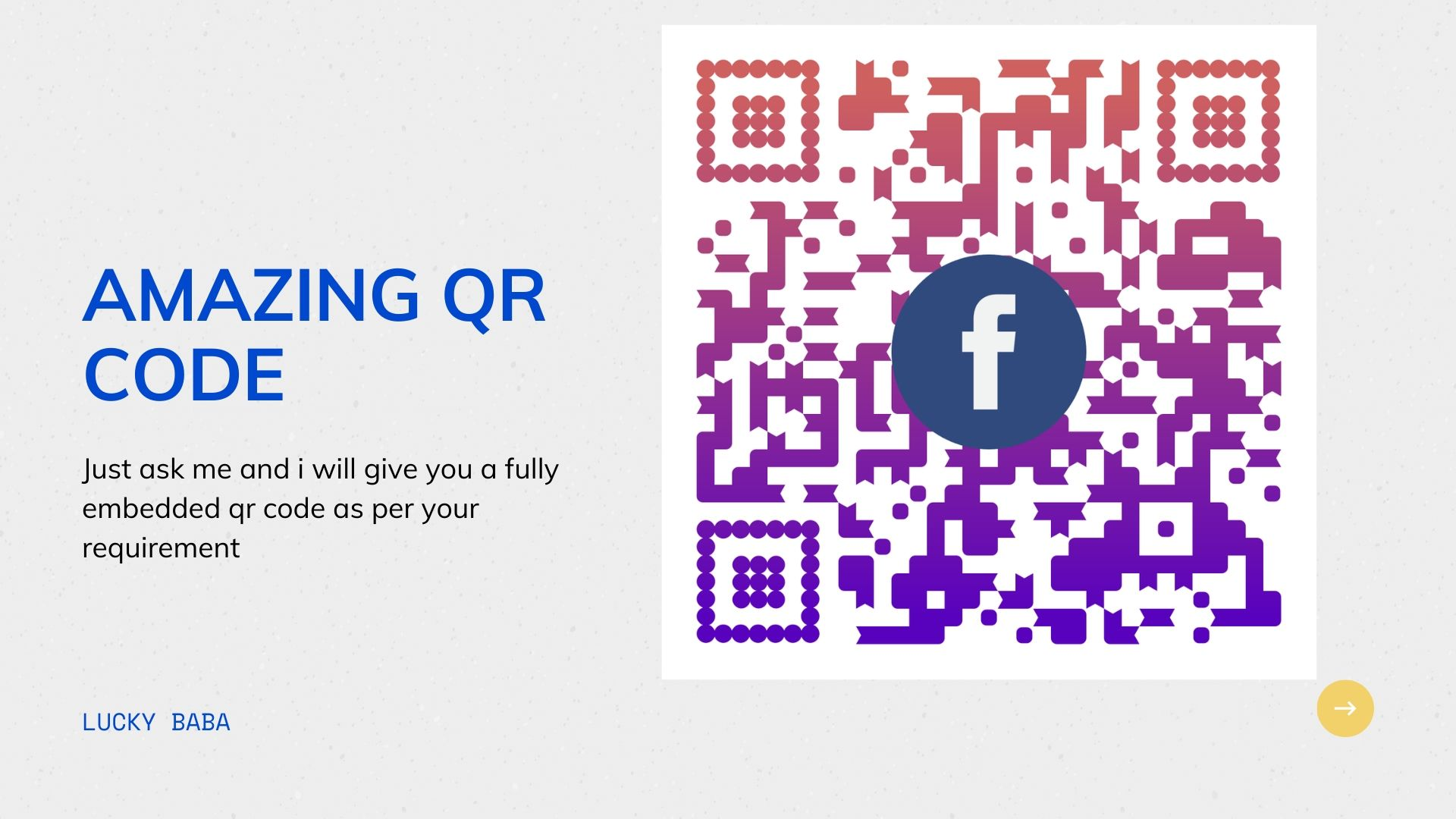 i will create a embedded qr code as per your need