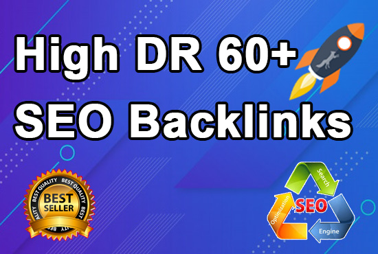 I will provide High DR 60+ homepage backlinks manually permanent