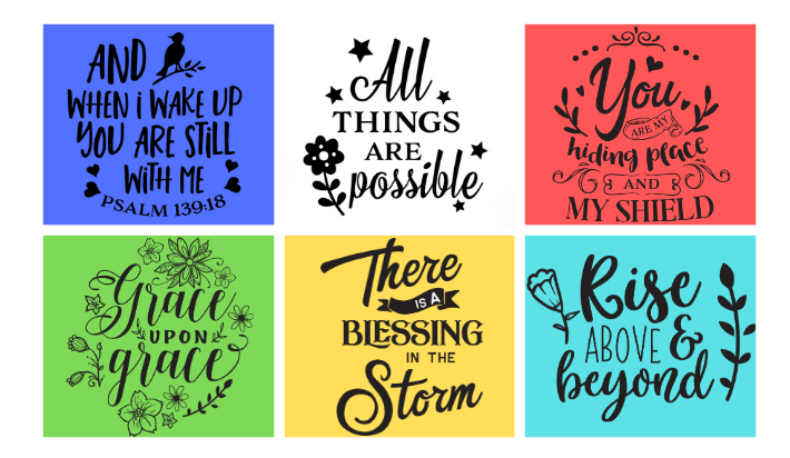 I will provide 48 christian bible verse quote designs for t-shirt
