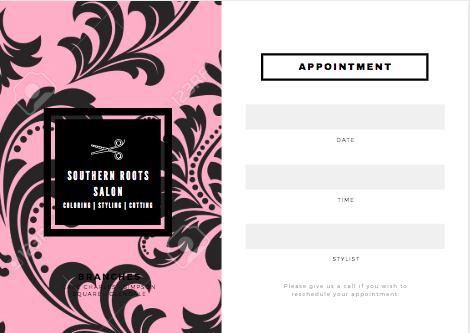 Custom Appointment Card For Your Business