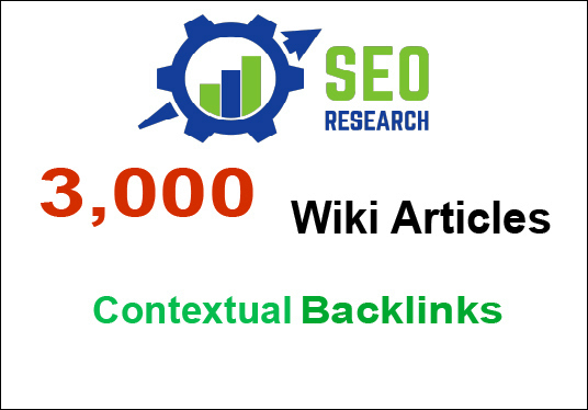 3,000 contextual Wiki Articles from contextual SEO Backlinks to get fast ranking