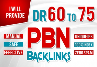 I will Provide 10 PBNs high dr 60to75 homepage pbn dofollow backlinks