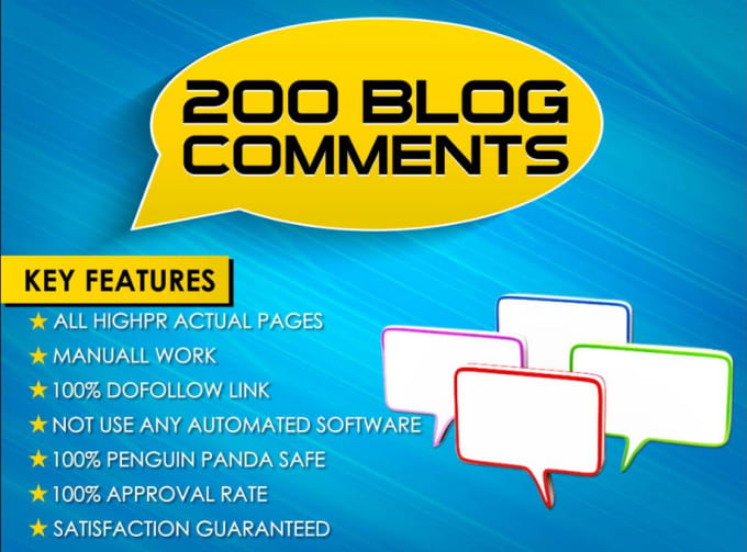 I will submit 200 blog comment on high da pa backlinks