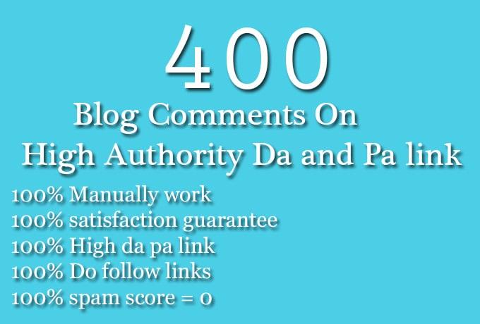 400 SEO blog comments backlinks