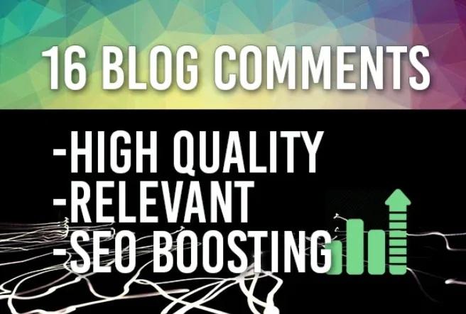 16 Do Follow Blog Comments Backlinks High DA PA Sites.