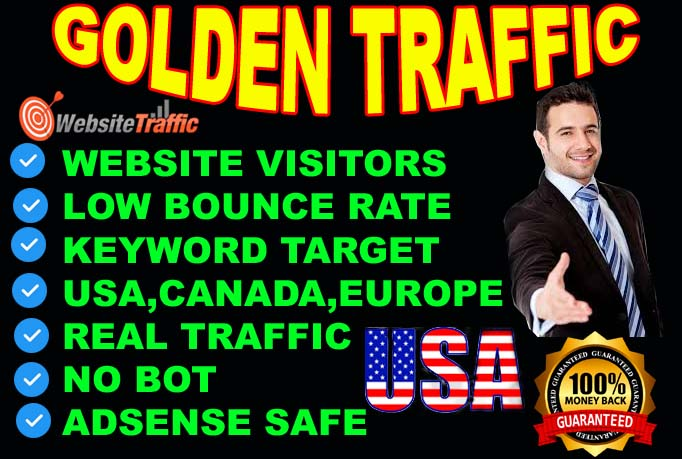I will drive golden traffic from 30days.