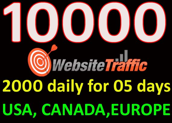I will drive SPECIAL10000 real high quality traffic from USA,  CANADA,  EUROPE
