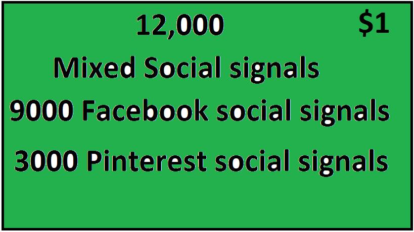 12,000+ Top 2 Platform Mixed Social Signals