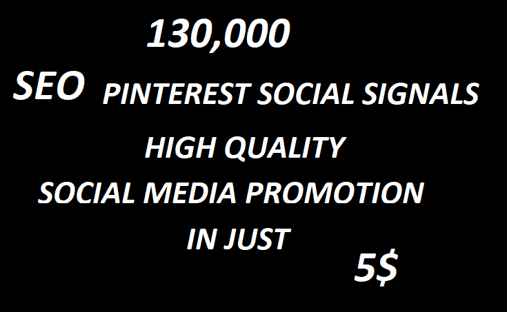 130,000+Huge Boost SEO Pinterest Social Signals Bookmarks High Quality