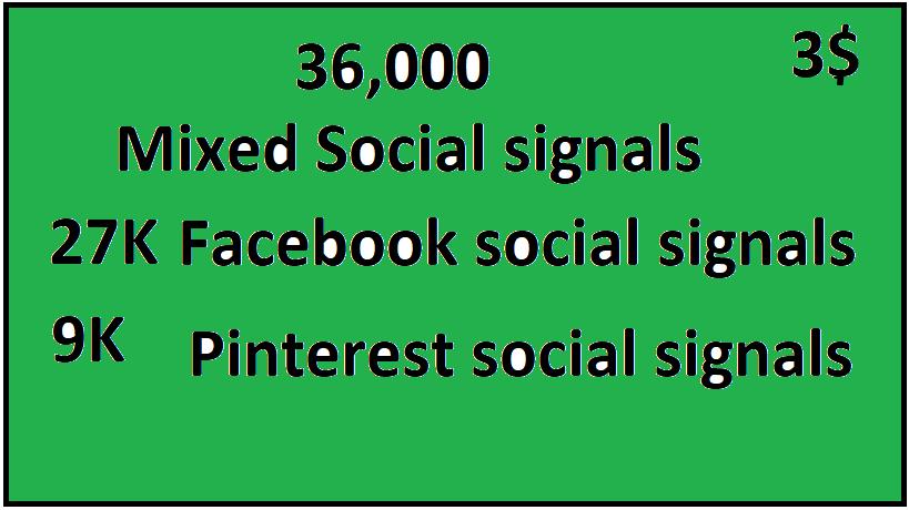36,000+Top 2 Platform Mixed Social Signals