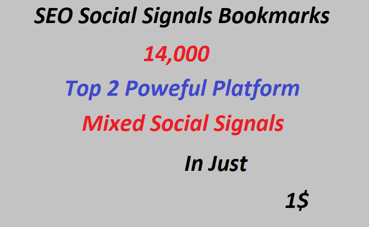 14,000+ Top 2 Powerful Platform Mixed Social Signals 7,000 web shares and 7,000 Pinterest