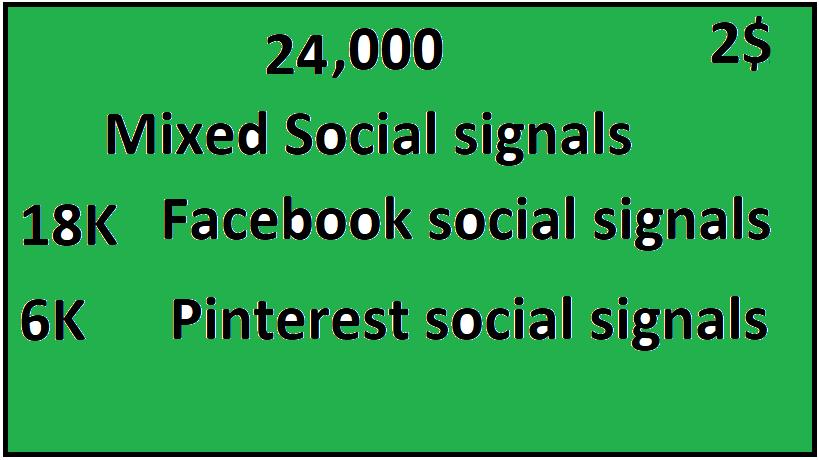 24,000+Top 2 Platform Mixed Social Signals