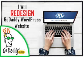 I will design or redesign bespoke godaddy or wordpress website