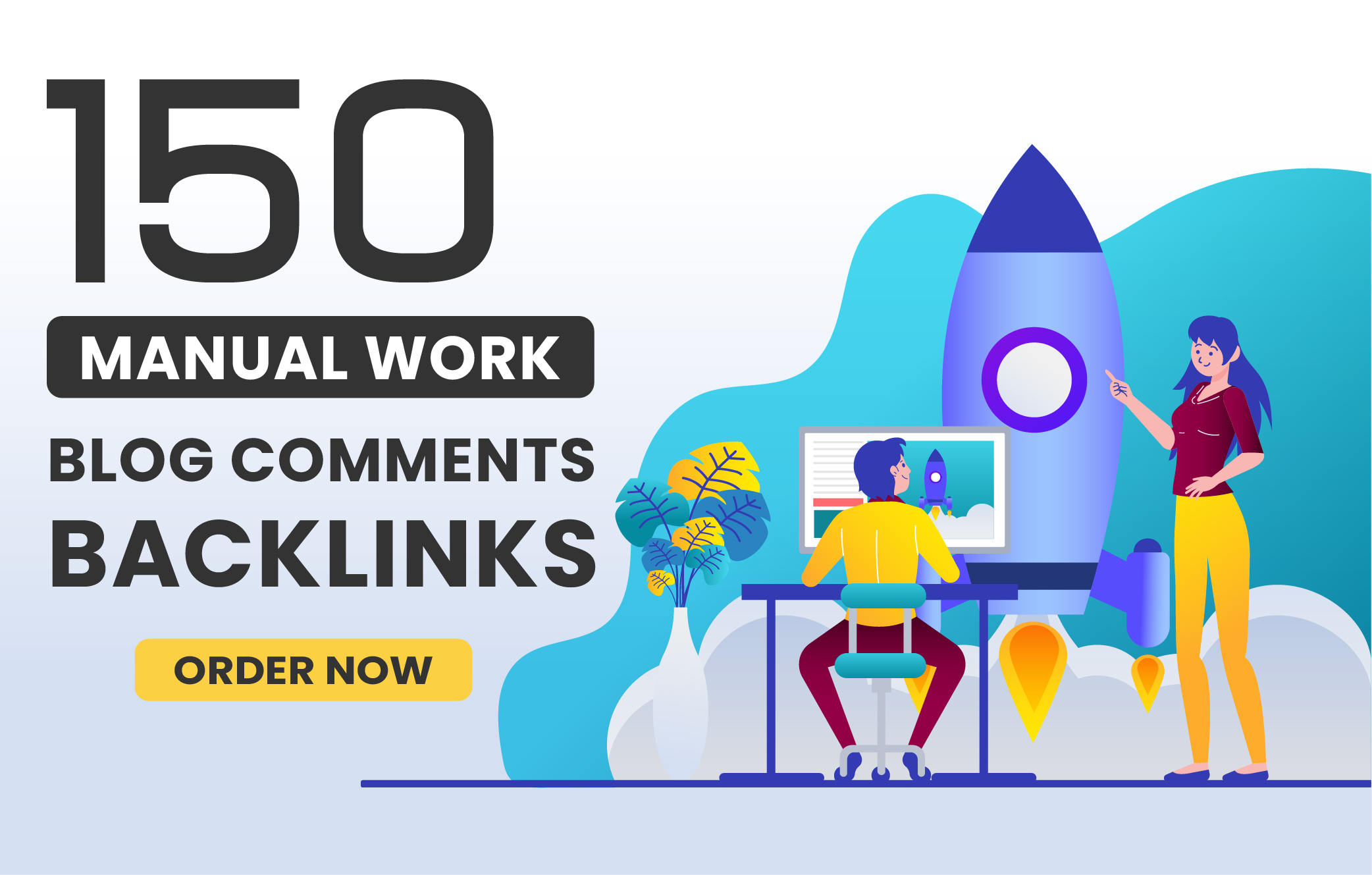 I will create 150 Unique Domains Blog Comments Backlinks with High DA PA