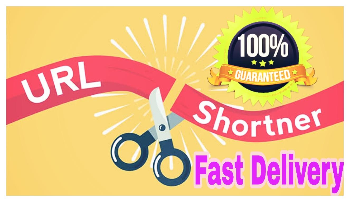 Get you 2500+ URL shortener High PR4-PR7 Highly Authorized Google Dominating Backlinks fast delivery