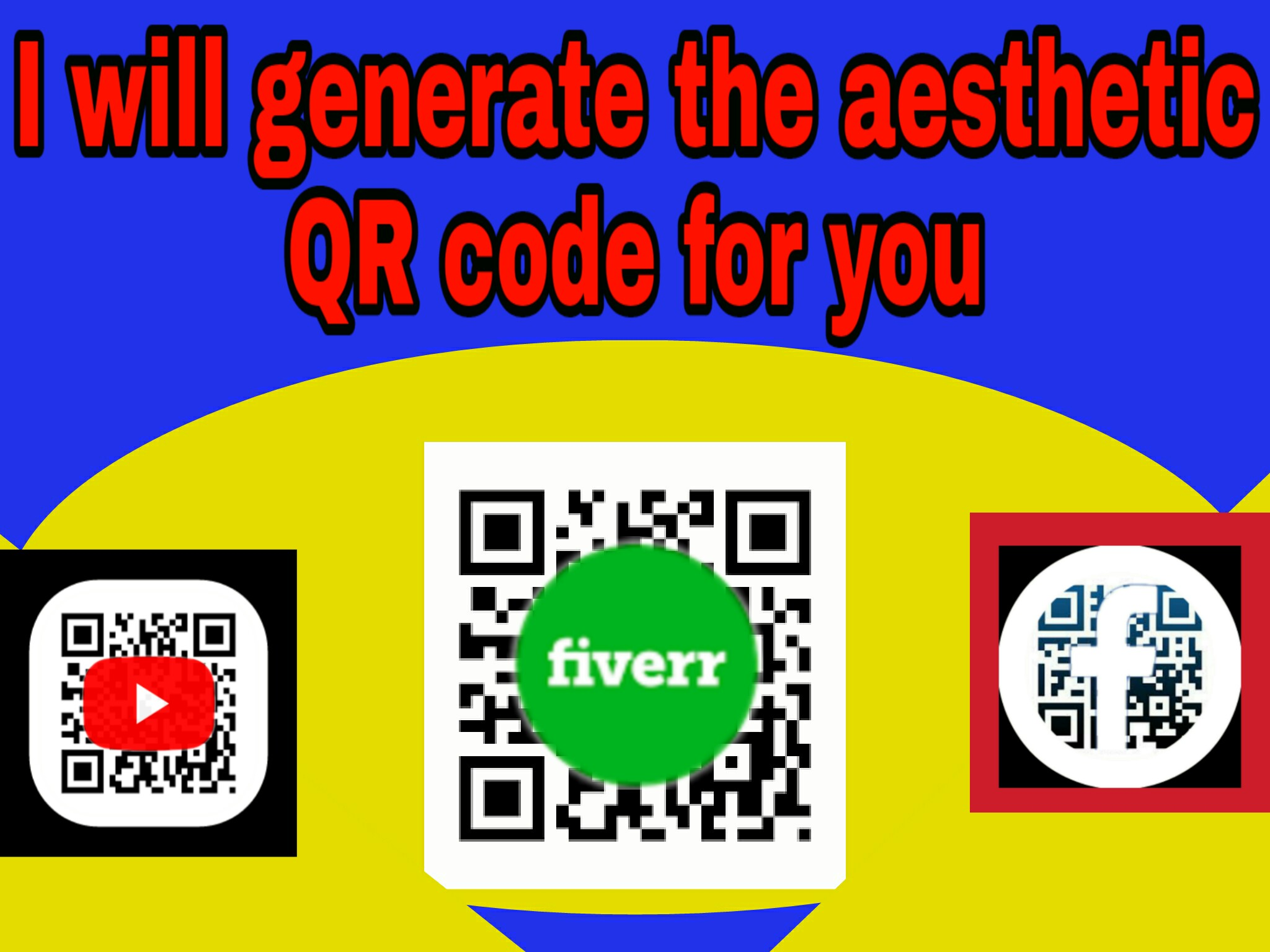 I will generate the aesthetic QR code for you