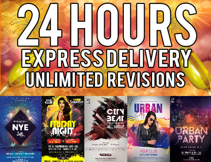 I will design professional flyers within 24 hours
