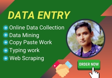 I will do administrator virtual assistant for data entry,  Copy paste