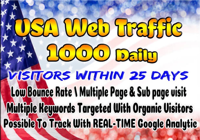 Super targeted USA traffic real Google organic web visitors for 25 days