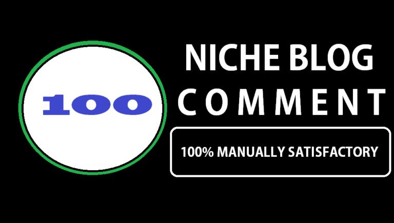 I will do 100 unique domain niche relevant blog comment SEO backlink