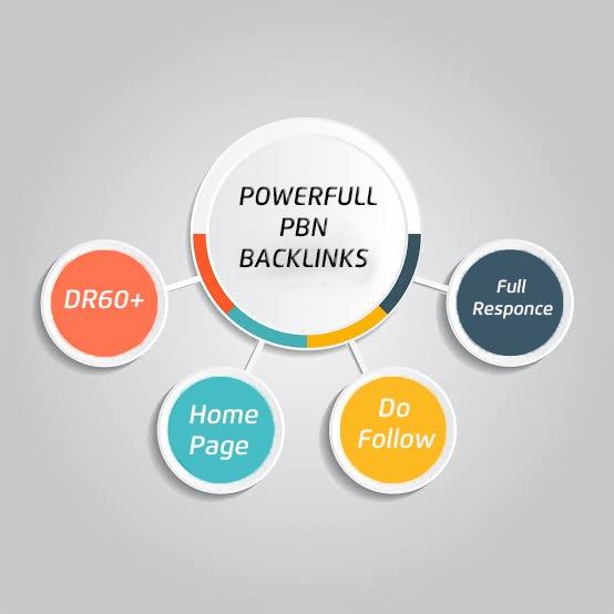 i wiil create 2 links DR 60+ pbn backlinks sticky homepage