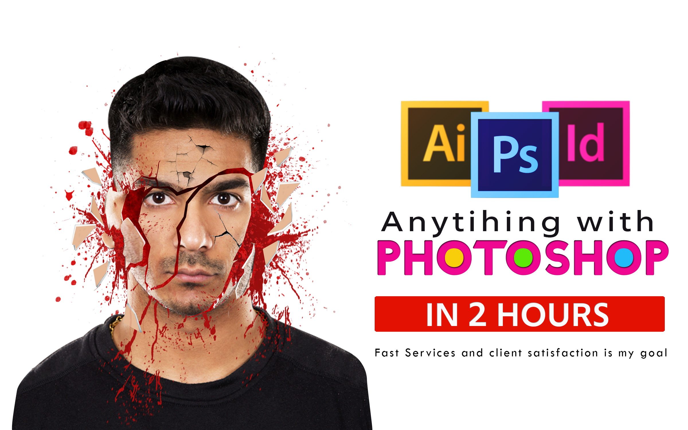 I will do any professional photoshop editing fast