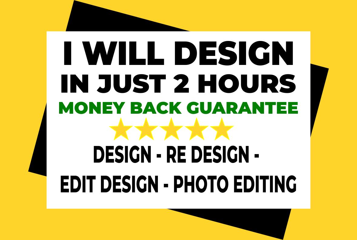 I will design flyers brochure,  menu,  price list,  social media posts,  website logo,  banner,  cover