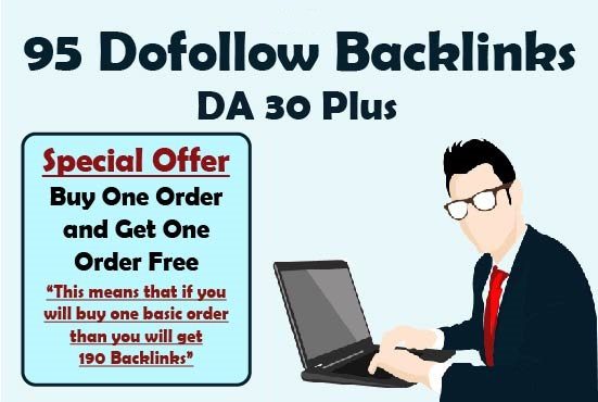 I will submit 95 high auhority dofollow backlinks
