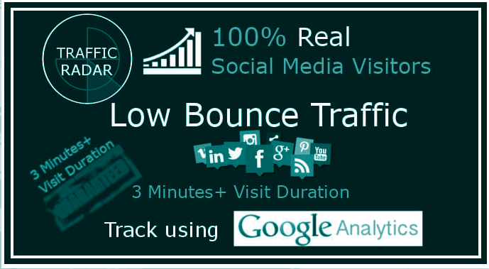 I will drive low bounce traffic with 3 minutes visit duration 30 Days Par Day 1000+