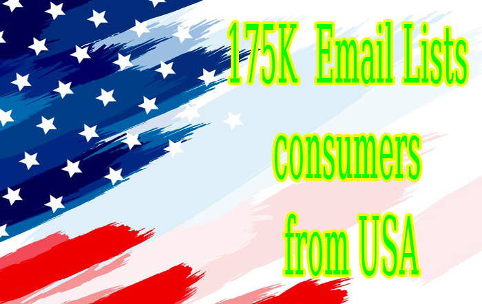 I will give you 175k email list consumers from USA