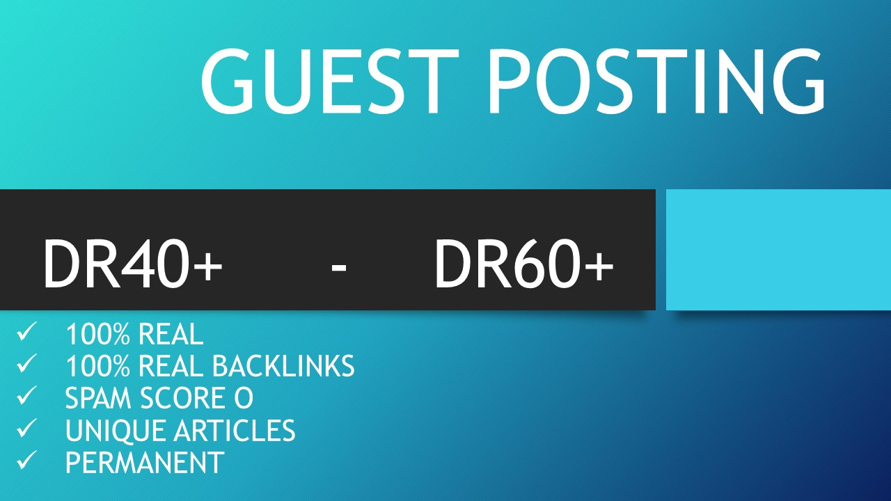 Rank Your Site with Guest posts with Real Backlinks
