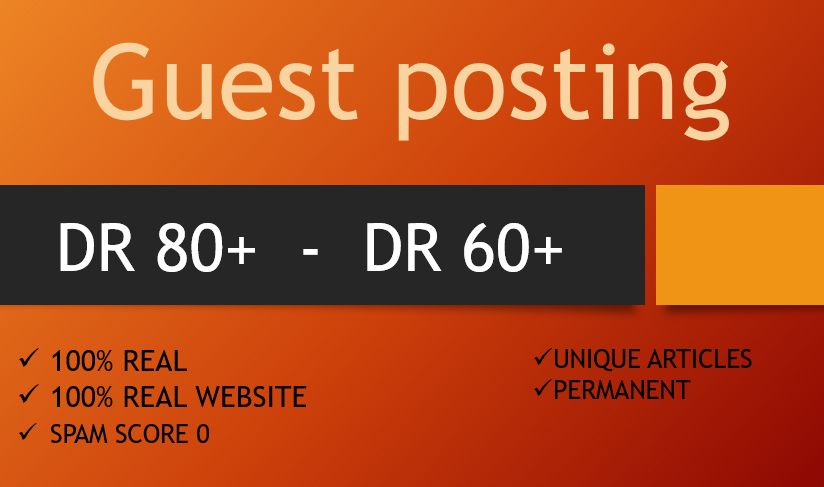 Rank Your Site with 2 Guest posts 110percent Real backlinks