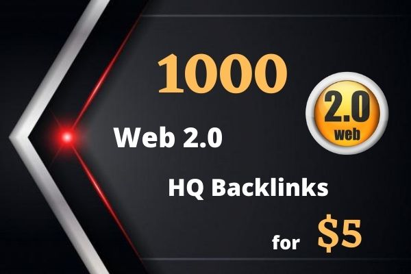 I Will create 1000 HQ Backlinks From Web2.0 Domains Site
