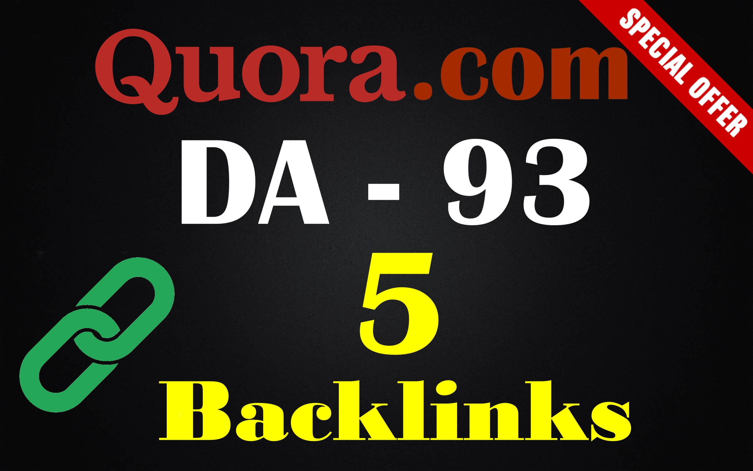 I will provide 5 High DA,PA Quora backlinks for boost your rank