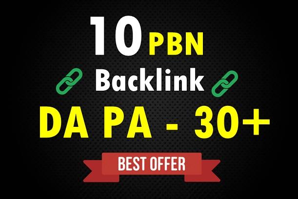 Create 10 Dofollow PBN High DA PA 30+ Backlinks