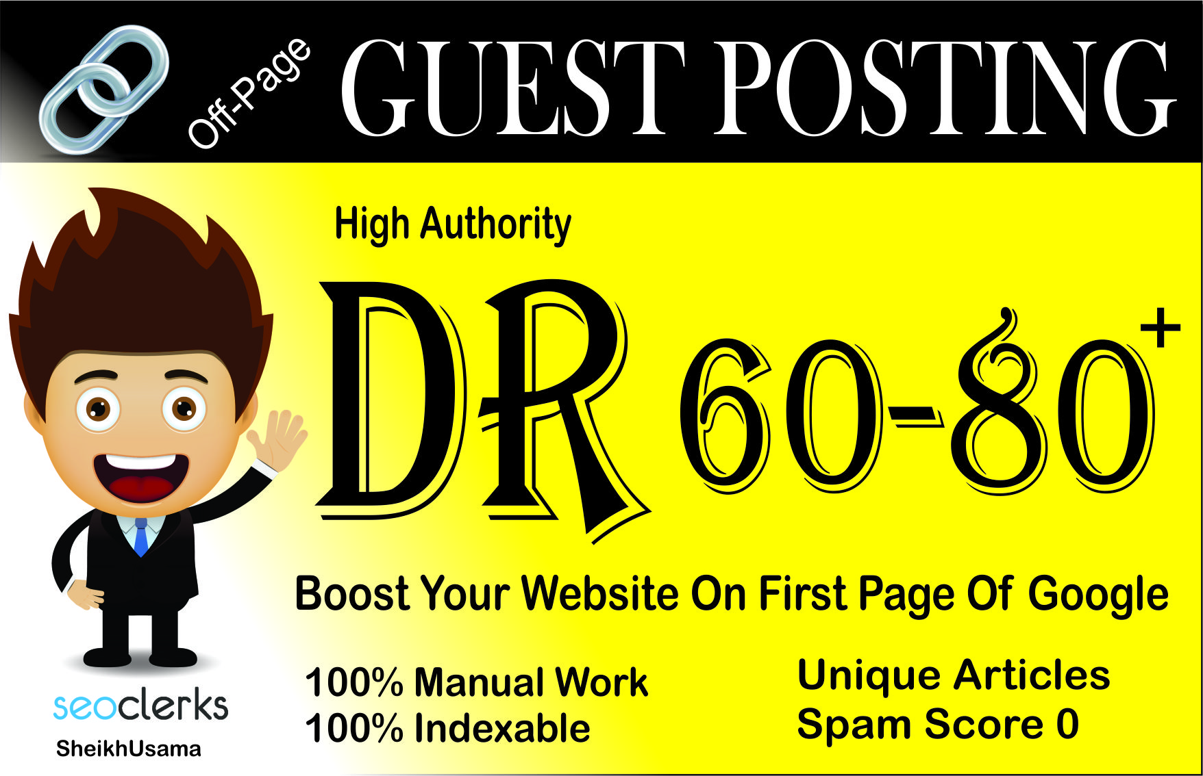 Guest Posting Using 2 High DR 60 to 80 Permanent PBN Backlinks