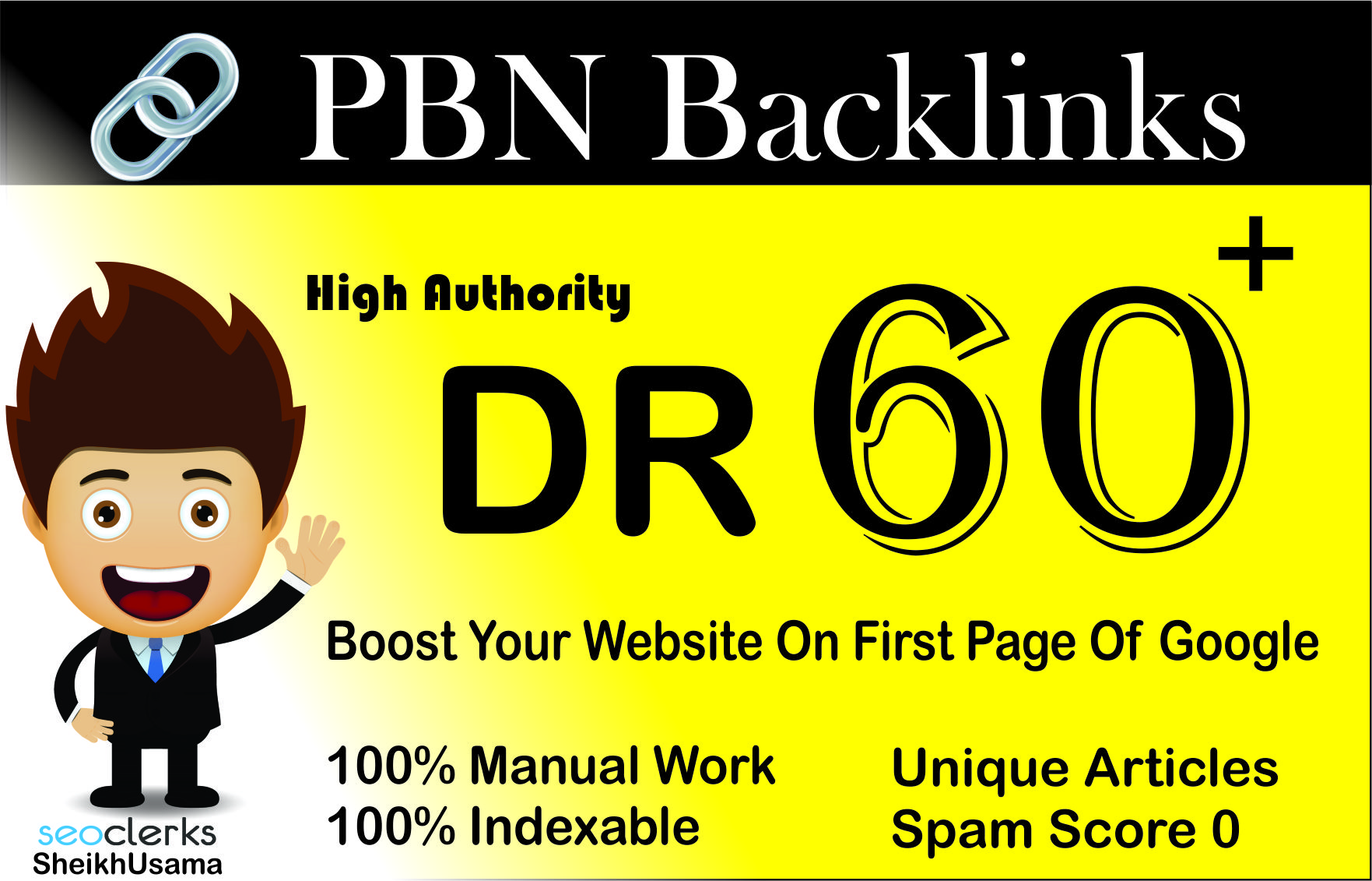 I Will Create Using 1 High Quality DR 60+ HOMEPAGE DOFOLLOW PBN BACKLINKS